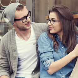 Couple looking at each other Photo Thinkstock