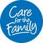 Care for the Family Button Solid Blue SMALL PNG